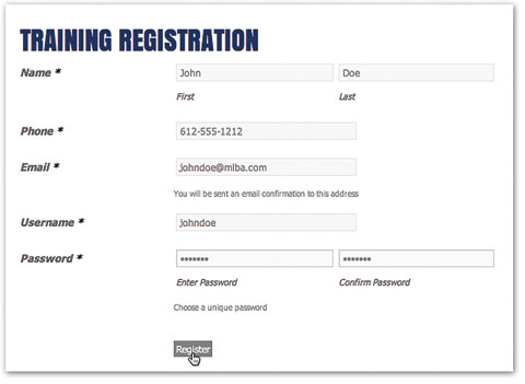 Online Training Procedure for Employers – Employee Registration Form